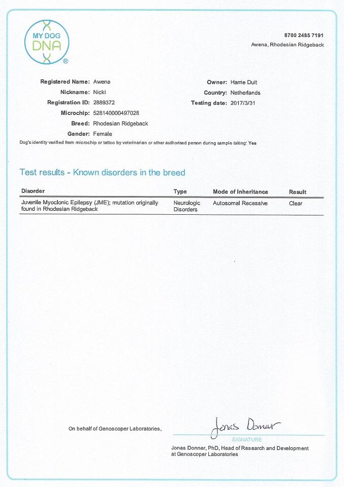 JME certificaat Nicki - kopie